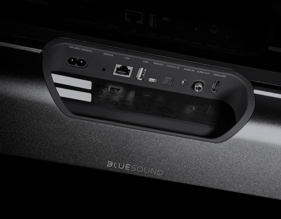 Bluesound Pulse Soundbar+ Black Back Panel