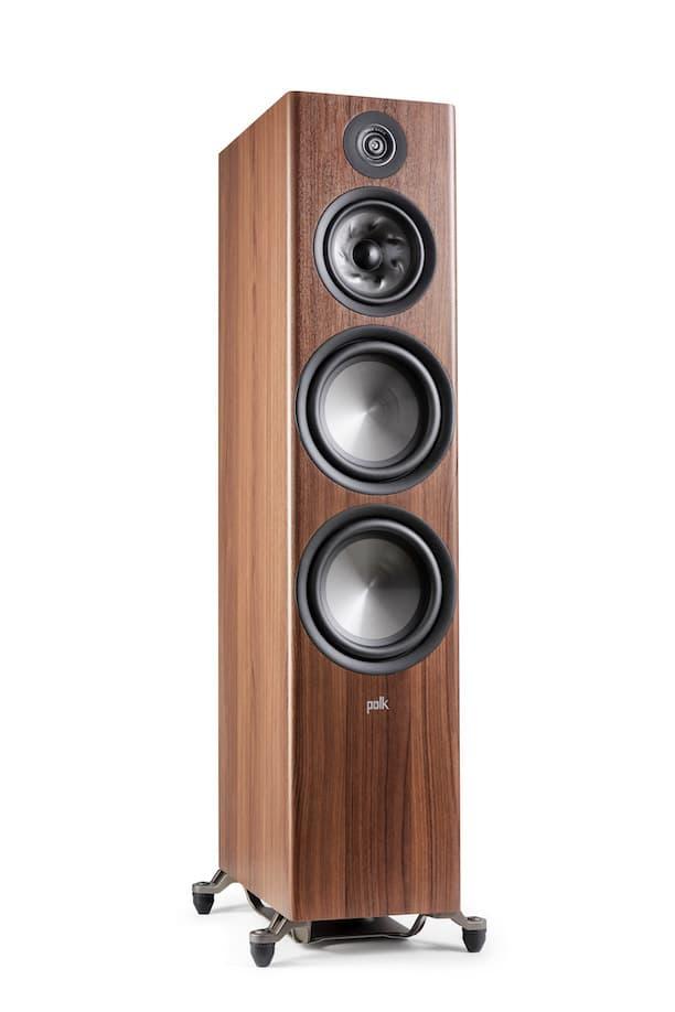 Polk Audio Reserve Series R700 no grille in walnut woodgrain