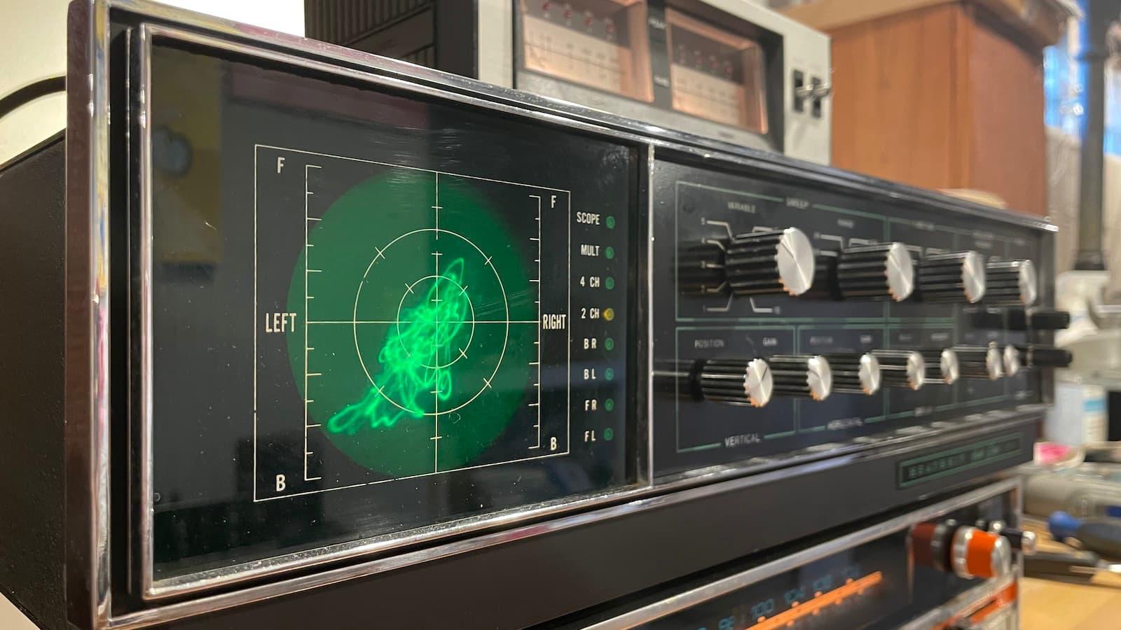 Heathkit Audio Scope Angle