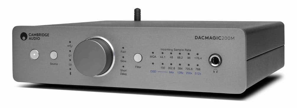 Cambridge Audio DacMagic 200m DAC Headphone Amplifier Low Angle