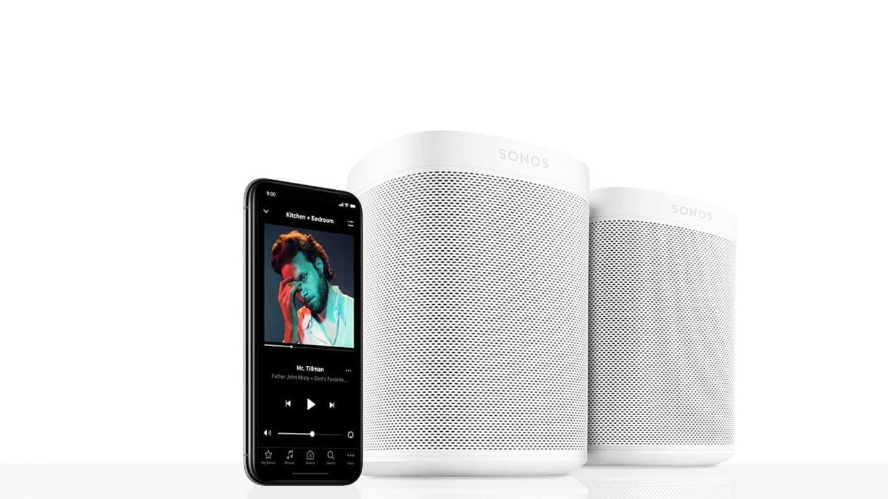 Sonos App with Sonos Speakers
