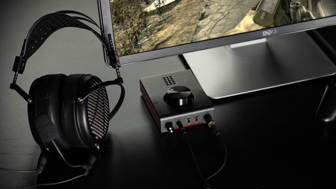 Schiit Audio Hel Gaming DAC/Amp on desktop