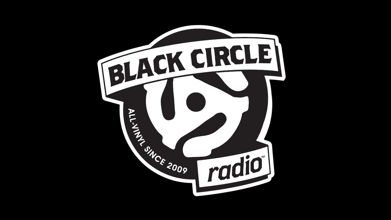 Black Circle Radio Logo on Black