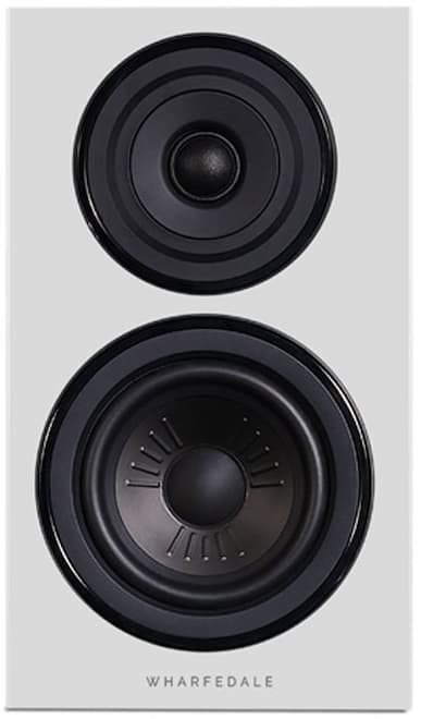 Wharfedale Diamond 12.1 Bookshelf Loudspeakers in white facing front