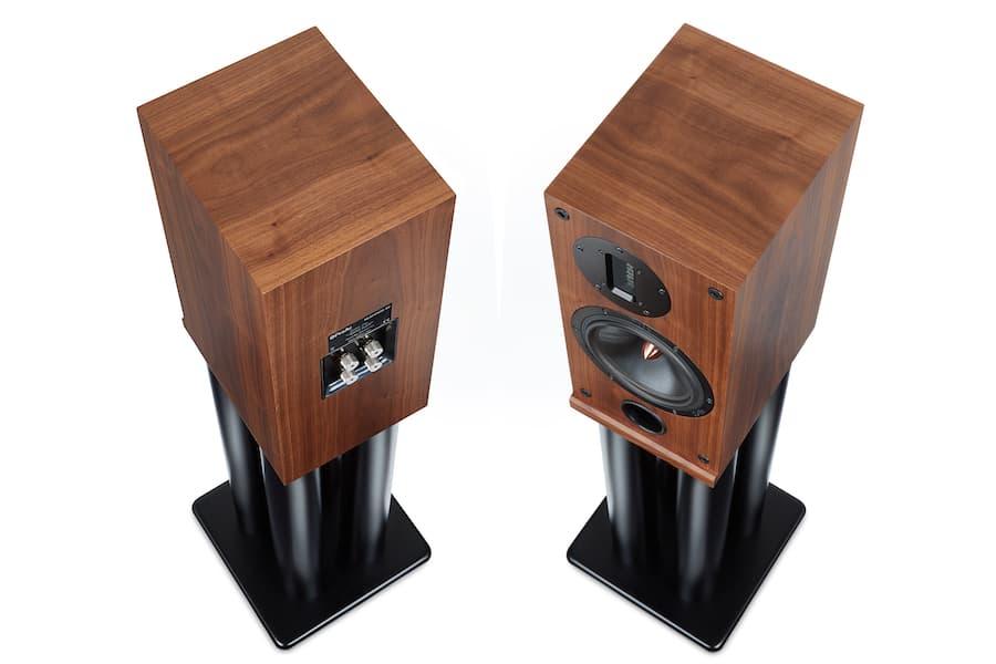 ProAc Response D2R Bookshelf Loudspeakers on stands top view