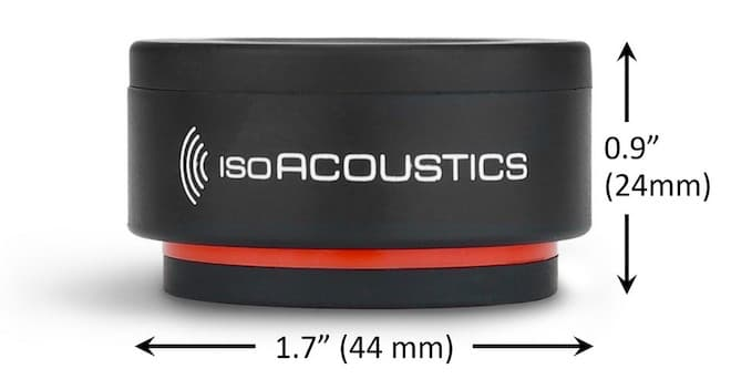 IsoAcoustics ISO-PUCK mini dimensions