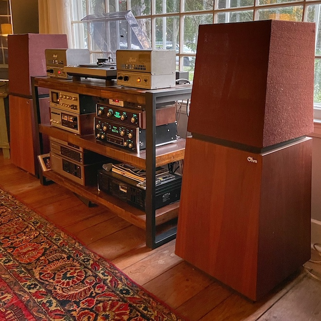 My Stereo System Today with Muzak Model 975A Tube Amplifiers and Ohm F Speakers