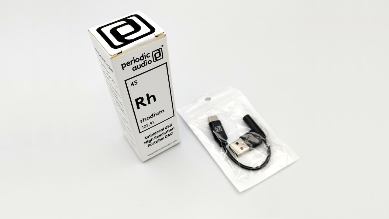 Periodic Audio Rhodium USB-C Dongle DAC Package