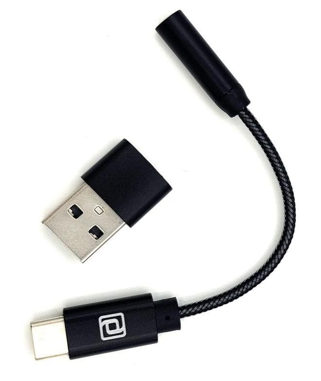 Periodic Audio Rhodium USB-C Dongle DAC with USB adapter