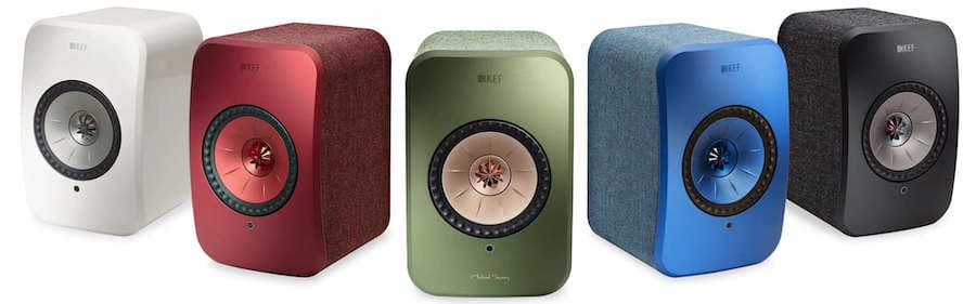 KEF LXS Wireless Speakers all color finishes