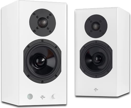 Totem Acoustic Kin Play Wireless Speakers in White grille off