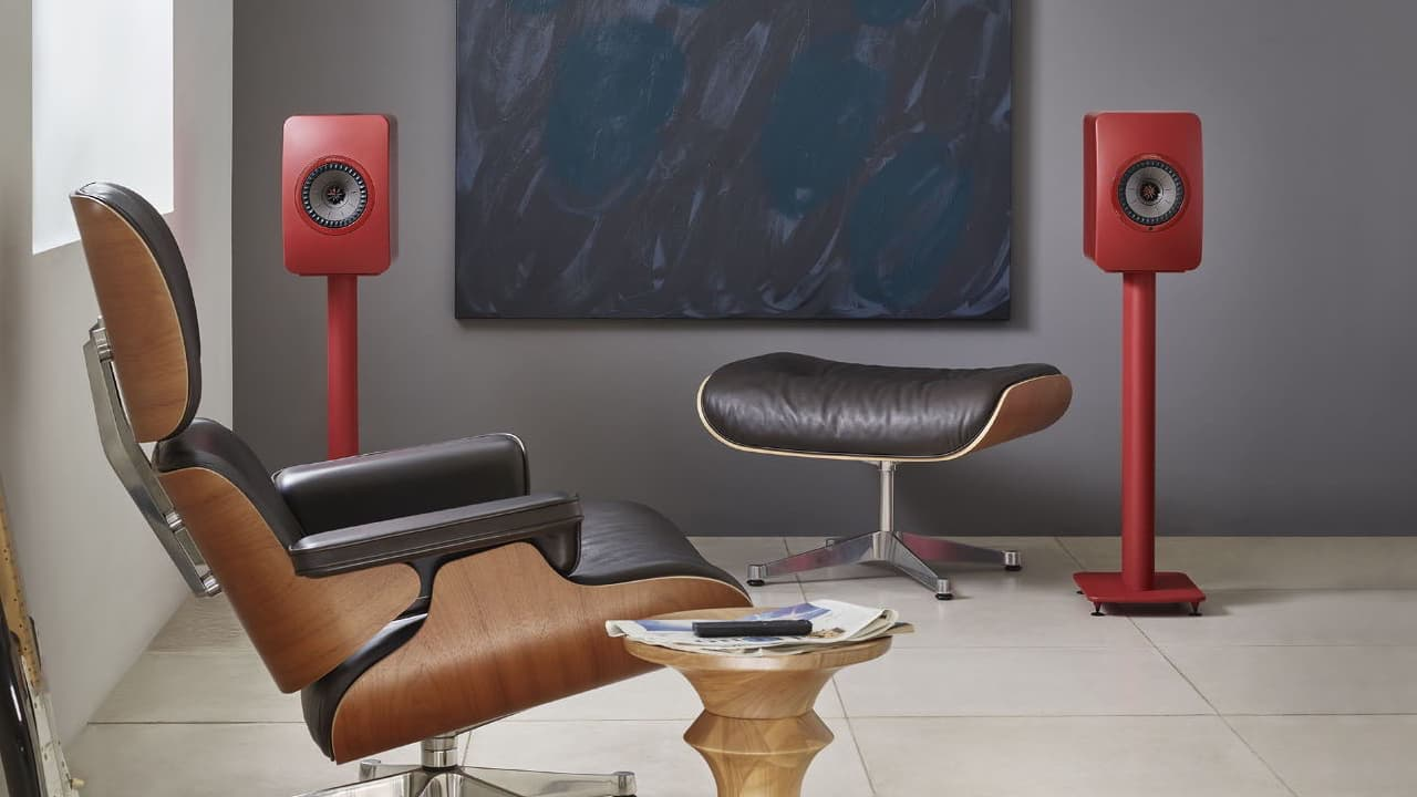KEF LS50 Wireless II Speakers in Red Lifestyle