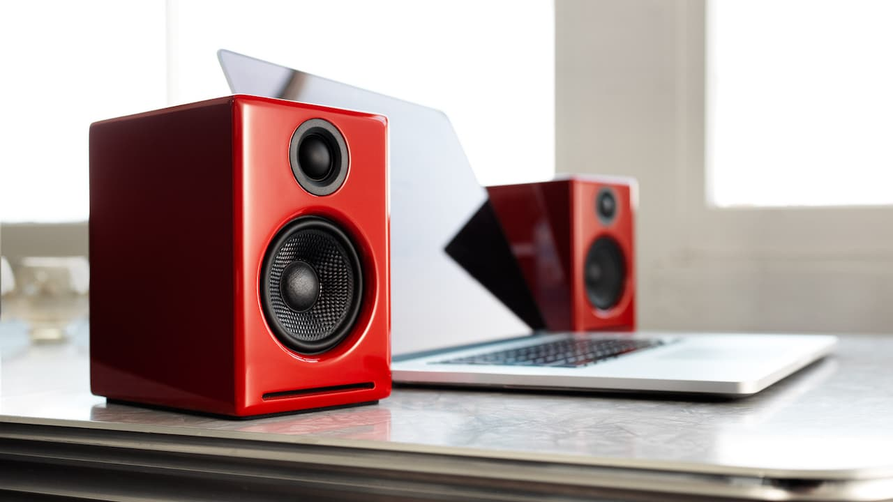 Audioengine A2+ Wireless Desktop Speakers in Red