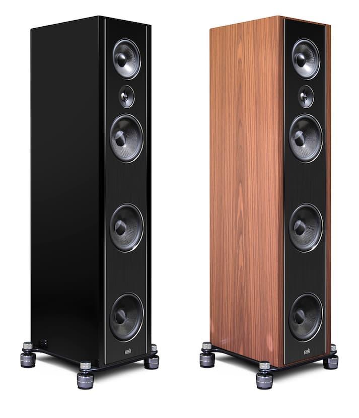 PSB Synchrony T600 Loudspeaker in High Gloss Piano Black and Satin Walnut Veneer