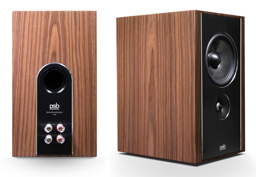 PSB Synchrony B600 Loudspeakers Front Angle and Back