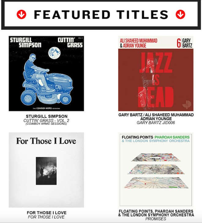 2021 Record Store Day Featured Titles