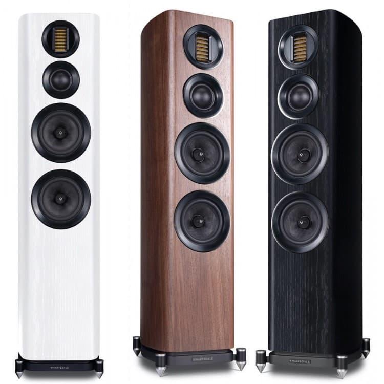 Wharfedale EVO 4.4 Floorstanding Loudspeakers in White, Walnut and Black Oak