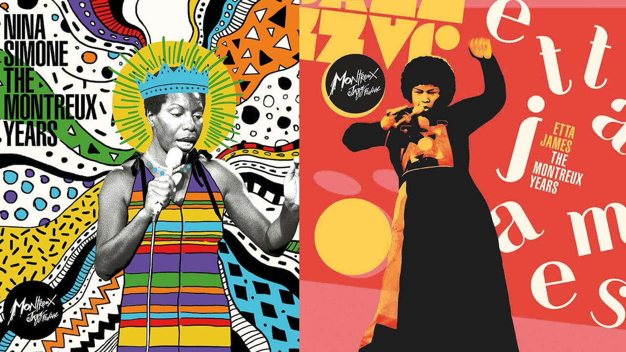 Nina Simone and Etta James Live Albums Cover Art