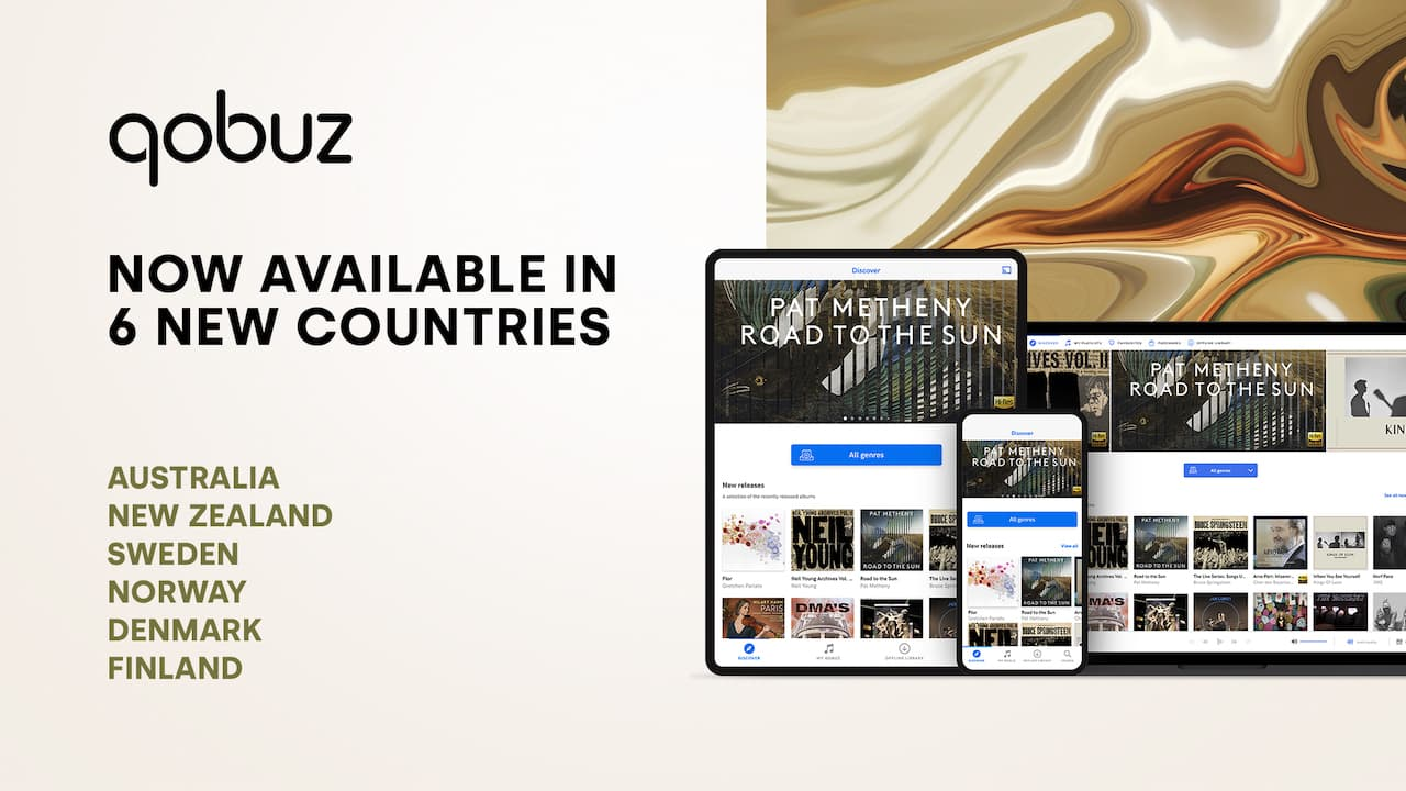 Qobuz Now Available in 6 New Countries