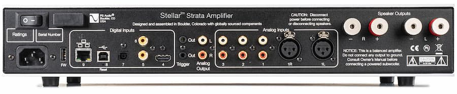 PS Audio Stellar Strata Silver Integrated Amplifier Back