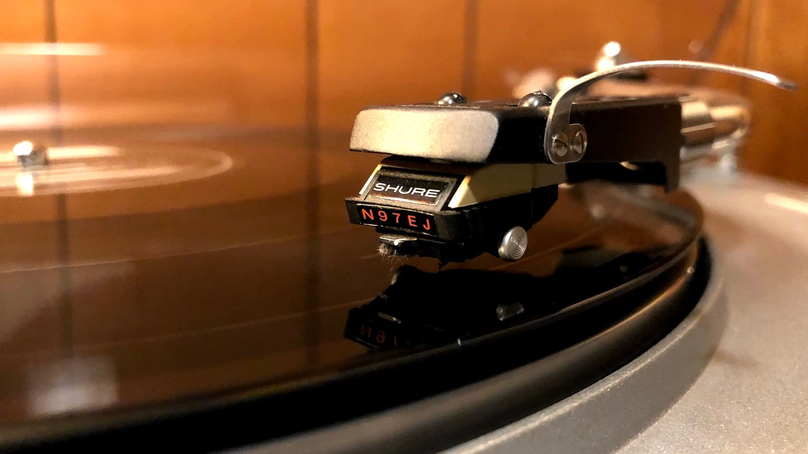 Shure N97EJ Phono Cartridge on Turntable