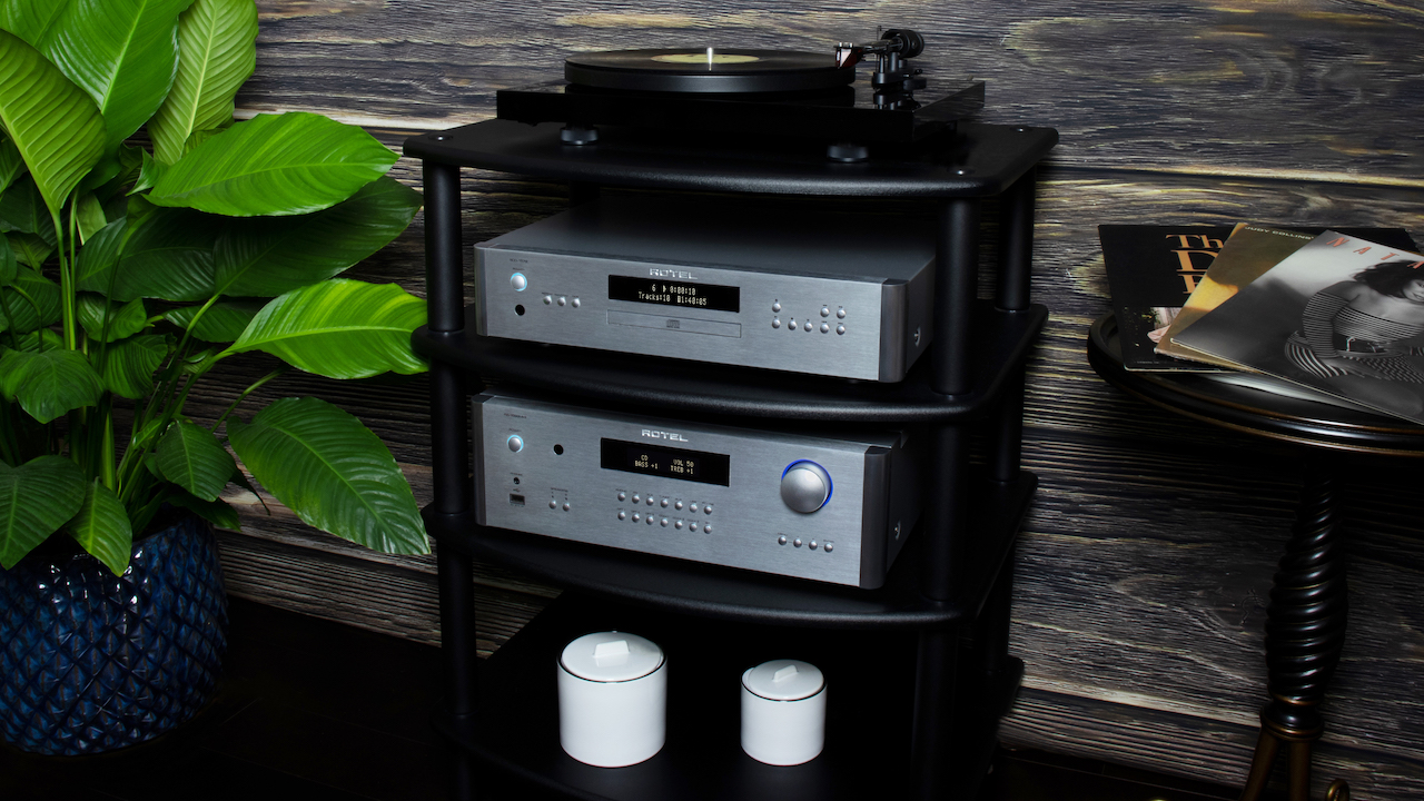 Rotel RA-1592MKII Integrated Amplifier in rack
