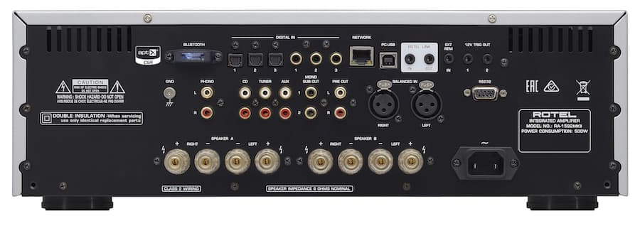 Rotel RA-1592MKII Integrated Amplifier Back
