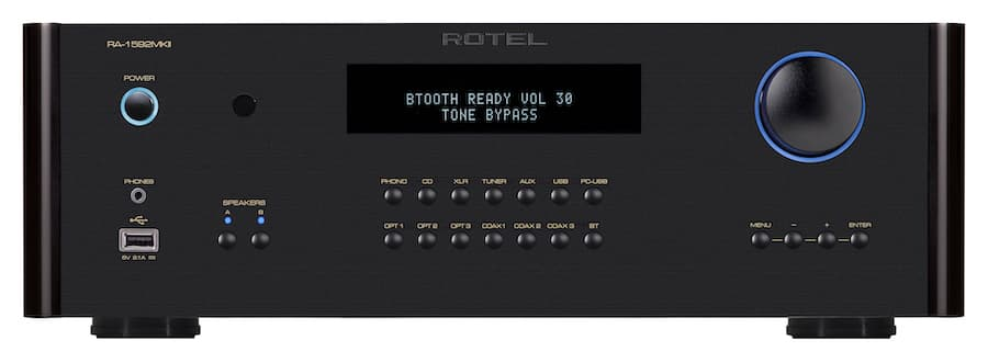 Rotel RA-1592MKII Integrated Amplifier Front Black