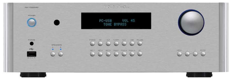 Rotel RA-1592MKII Integrated Amplifier Front Silver