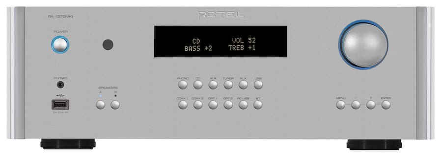Rotel RA-1572MKII Integrated Amplifier Front Silver