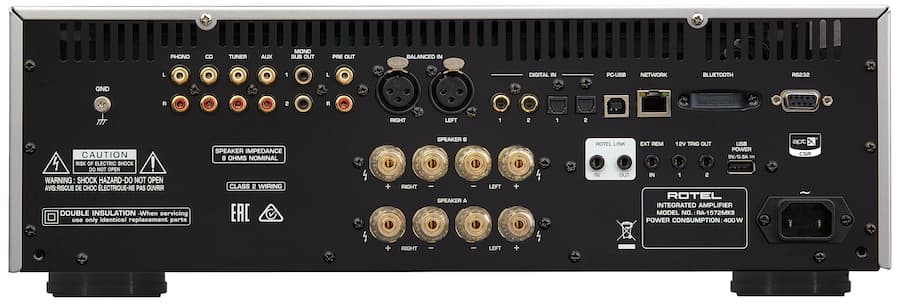 Rotel RA-1572MKII Integrated Amplifier Back