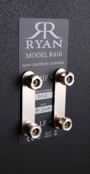 Ryan R610 Bookshelf Loudspeaker Rear