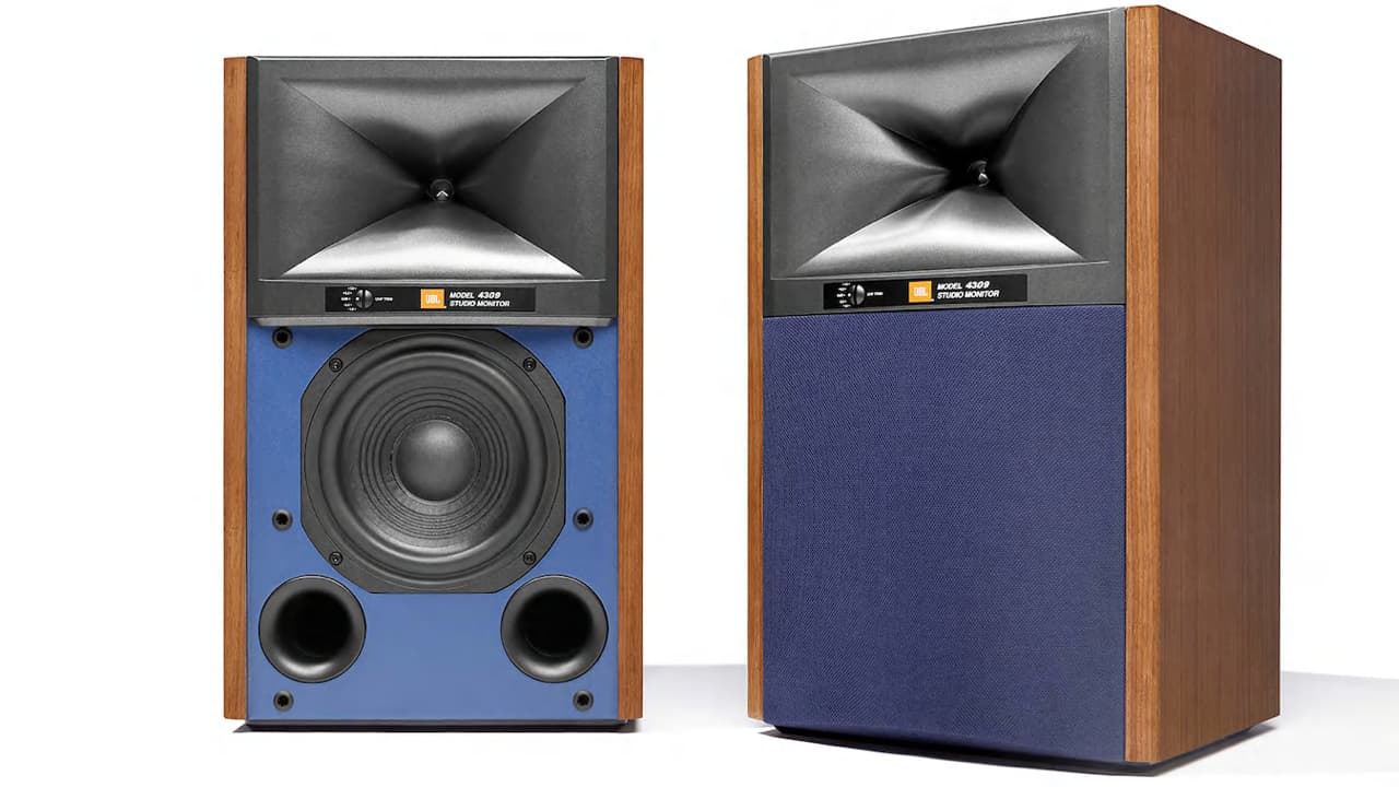 JBL 4309 Studio Monitor Bookshelf Loudspeakers in Walnut
