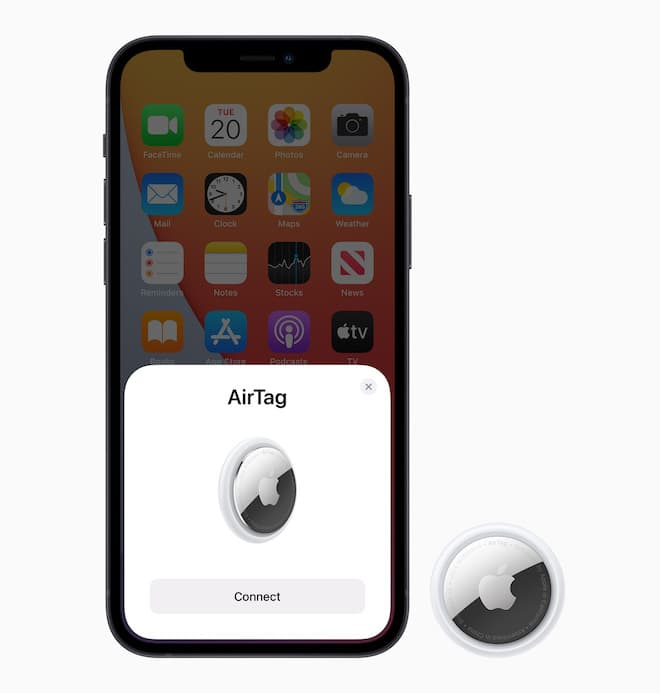 Apple AirTag Pairing Screen