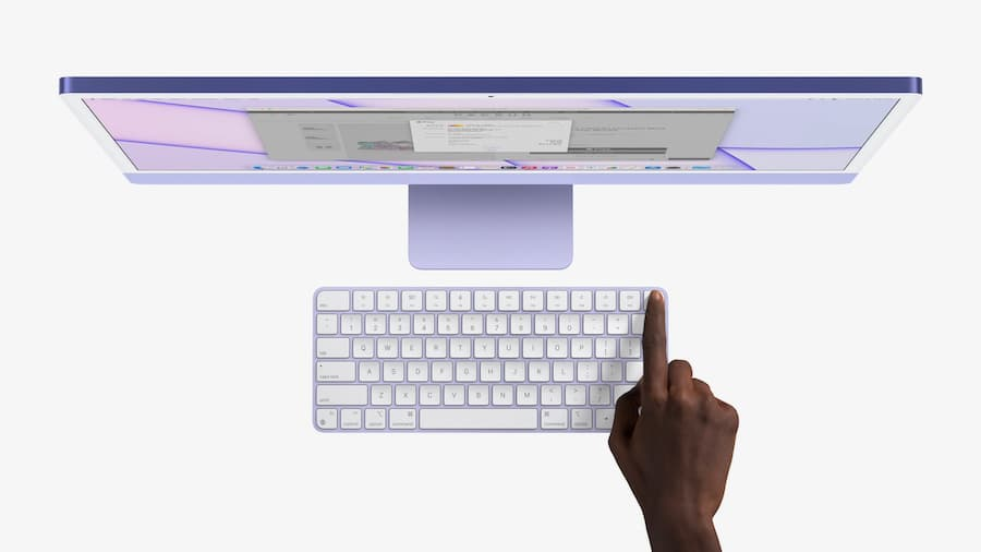 Apple iMac Spring 2021 Purple with Touch ID