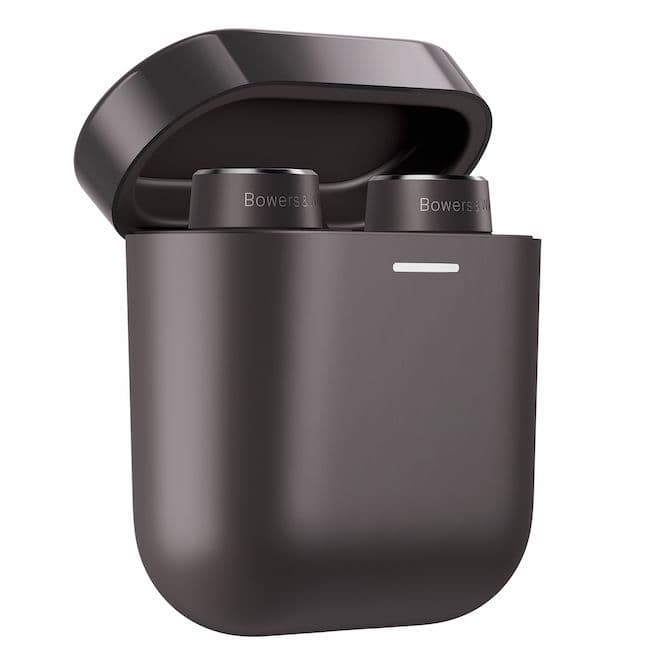 Bowers & Wilkins PI5 True Wireless Earbuds in Charcoal Charging Case