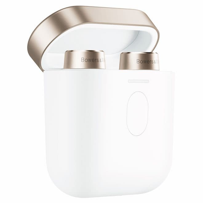 Bowers & Wilkins PI7 True Wireless Earbuds in White Charging Case