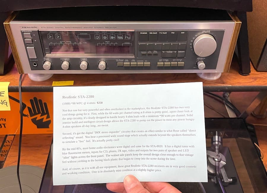 Realistic STA-2280 Stereo Receiver