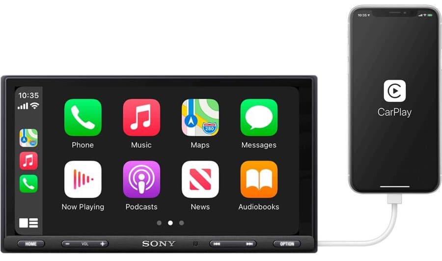 Sony XAV-AX5600 In-dash Car Receiver with iPhone