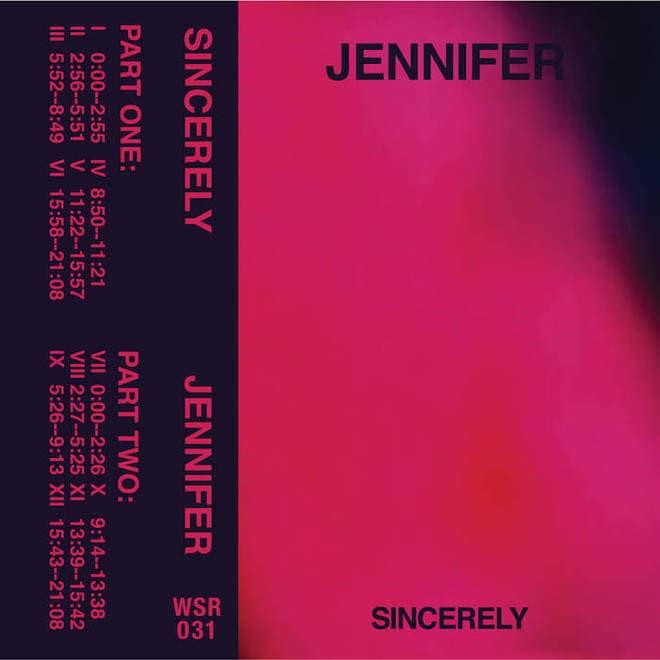 Jennifer, Sincerely Album Cover