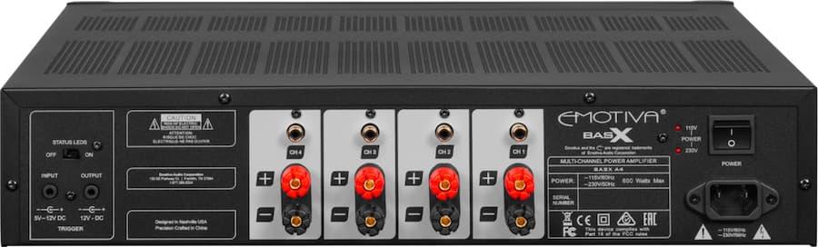 Emotiva A4 Amplifier Rear