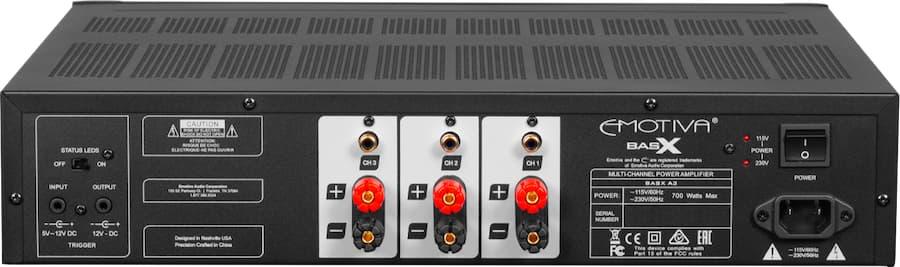 Emotiva A3 Amplifier Rear