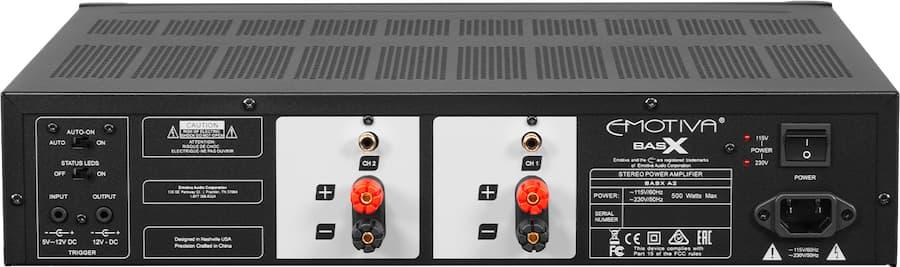Emotiva A2 Amplifier Rear