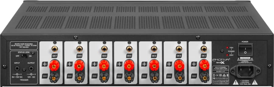 Emotiva A7 Amplifier Rear