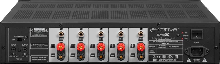 Emotiva A5 Amplifier Rear
