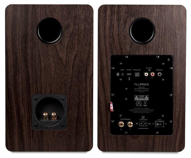 Fluance Ai61 speakers back in black walnut