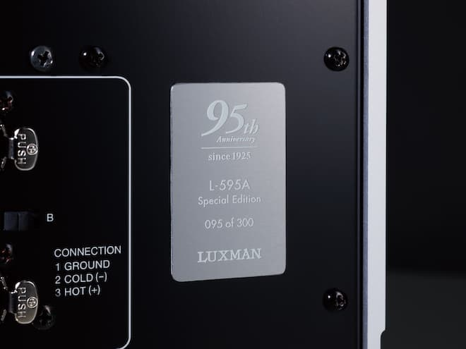 Luxman L-595A SPECIAL EDITION Numbered Plate