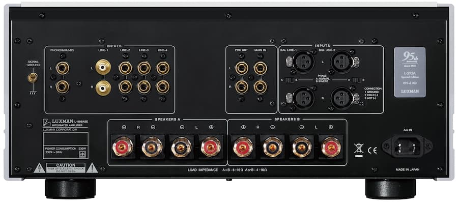 Luxman L-595A SPECIAL EDITION Rear Panel