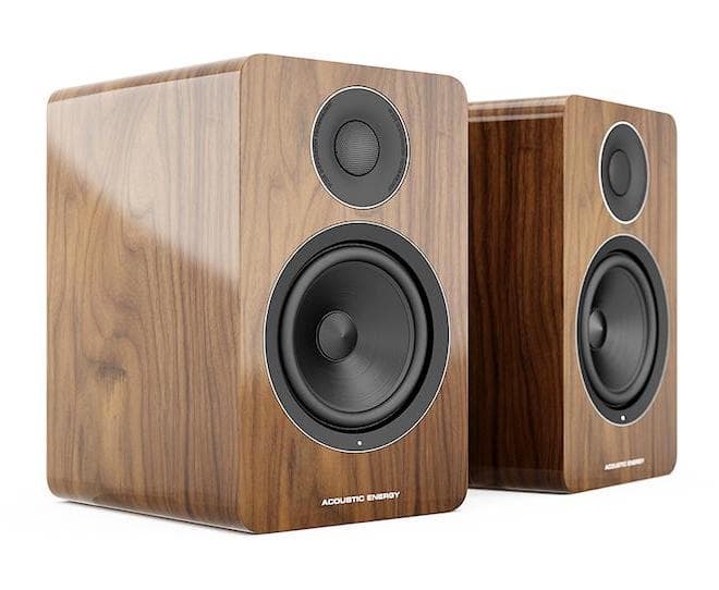 Acoustic Energy AE1 Active Speakers pair in walnut without grilles