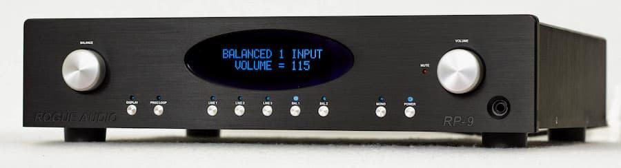 Rogue Audio RP-9 Preamplifier in black